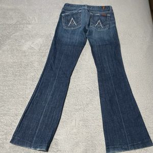 7 for all mankind boot cut jeans size 25x30. Very good condition!